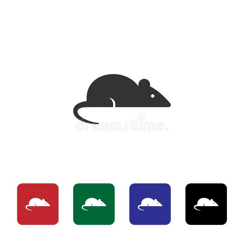 Szczur, laborancka ikona Prosta element ilustracja od biotechnologii poj?cia Szczur, laborancka ikona bioengineering ilustracji