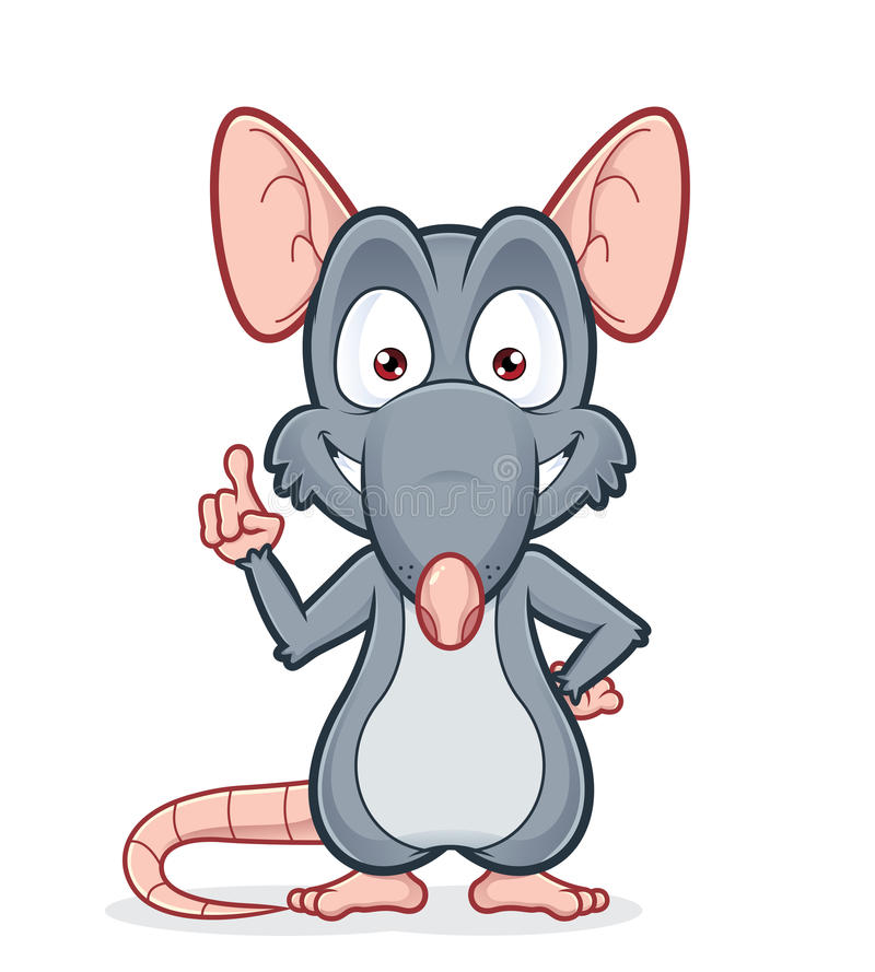 Szczur wskazuje upwards royalty ilustracja