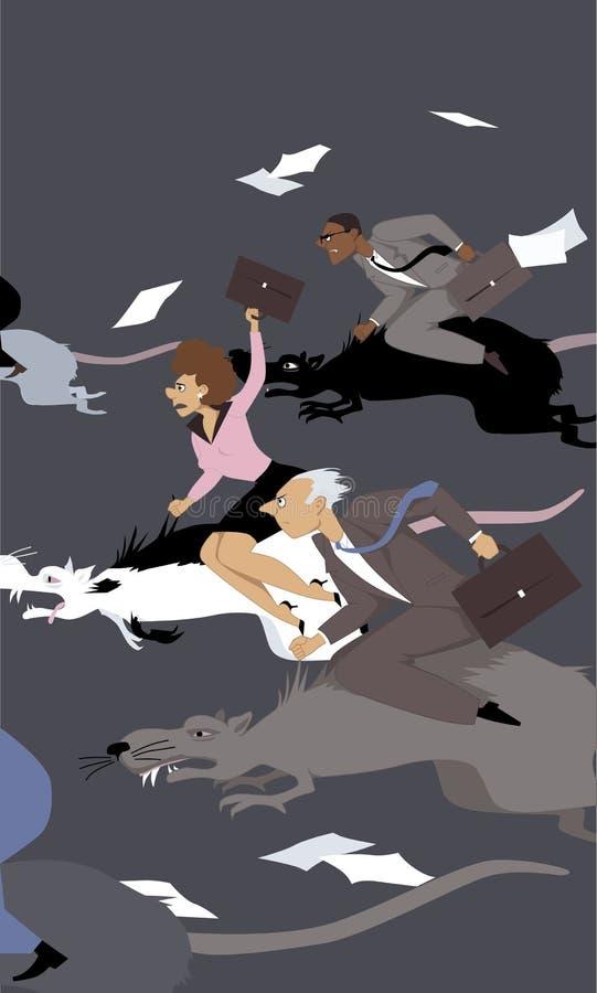szczur wyścigu ilustracja wektor