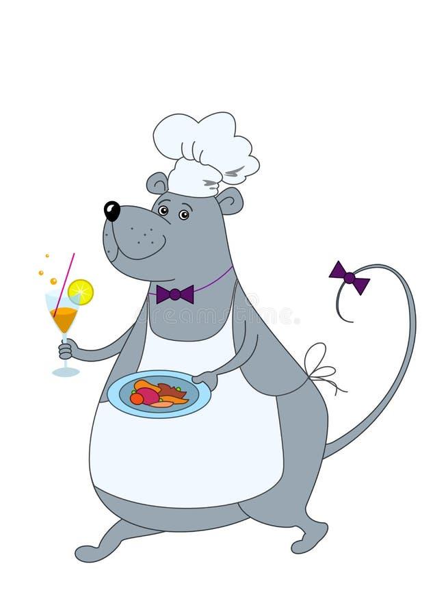 szczura kelner ilustracji