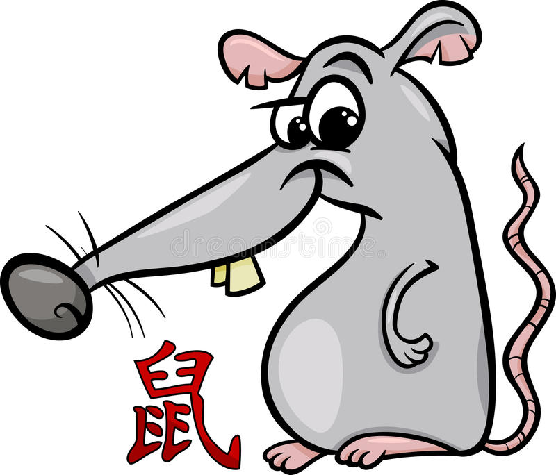 Szczura zodiaka horoskopu chiński znak ilustracji