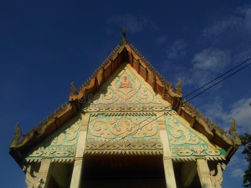 Szczyt budynek w buddyzm świątyni zdjęcie stock