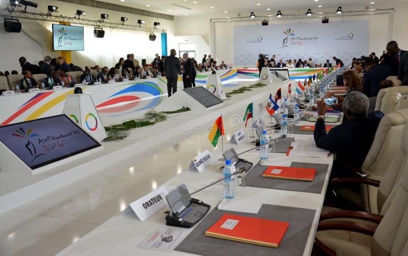 Szczyt Francophonie trzymający w Antananarivo, Madagascar zdjęcie stock