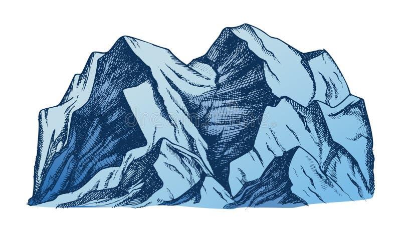 Szczyt góra krajobrazu koloru wektor ilustracja wektor