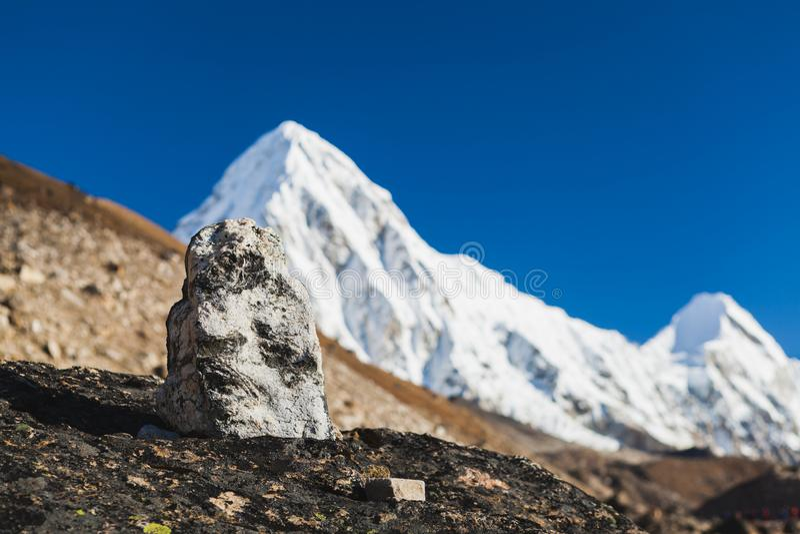 Szczyt górski, Pumo Ri obrazy royalty free