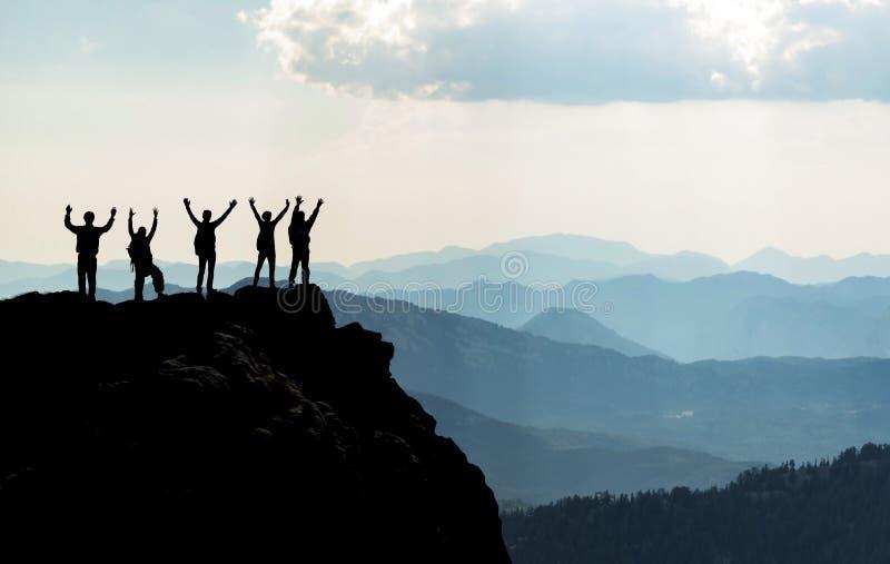 Szczyt osiągnięcie! zdjęcia stock