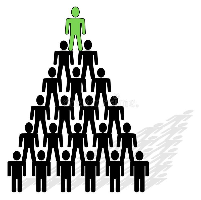 szczyt piramidy przywódcy. ilustracji