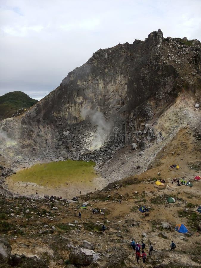 Szczyt Sibayak góra fotografia royalty free