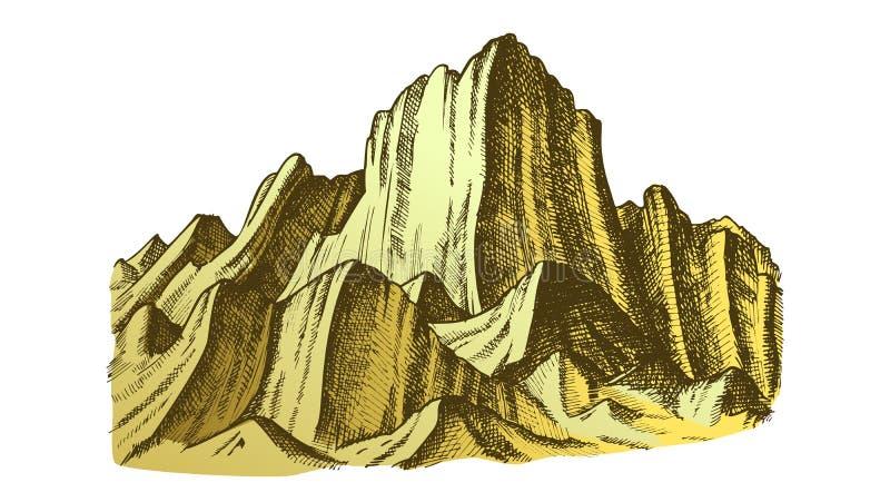 Szczyt Skalistej góry krajobrazu koloru wektor ilustracji