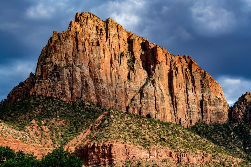 Szczyt w Zion parku narodowym, Utah obrazy royalty free