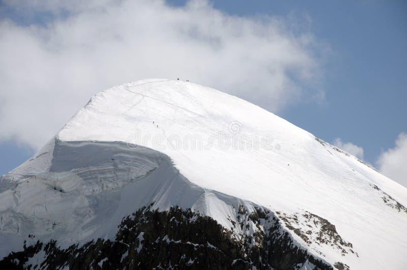 Szczyt widzieć od Klein Matterhorn Breithorn obrazy stock