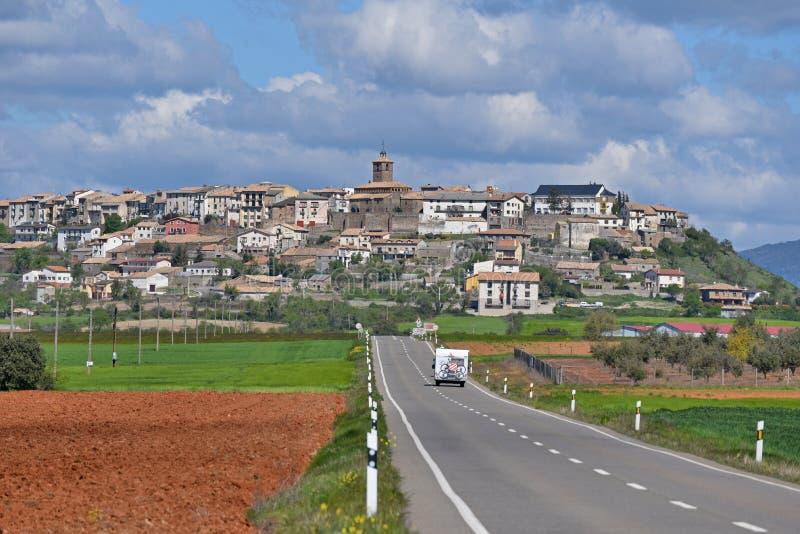 Szczyt wioska Berdun zdjęcie royalty free