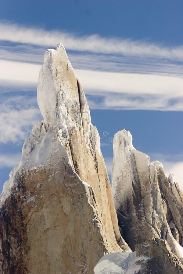 szczytowy Cerro torre zdjęcie royalty free