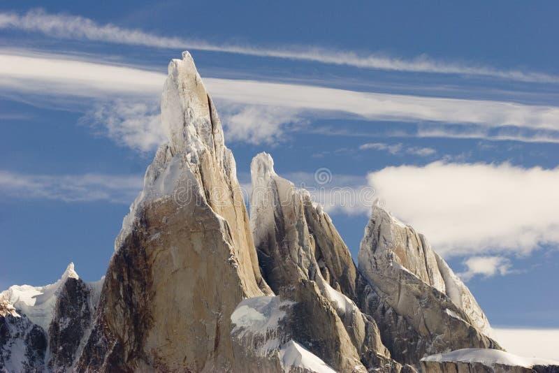 szczytowy Cerro torre zdjęcie stock