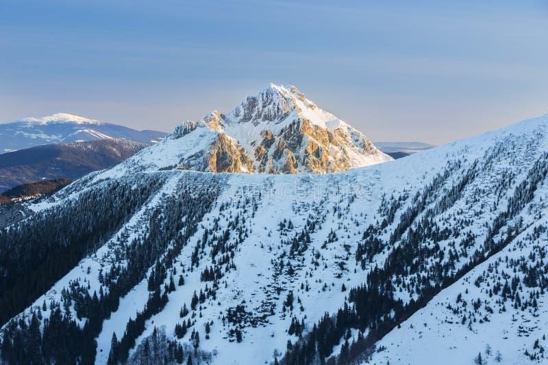 Szczytowy Rozsutec w parka narodowego Mala Fatra górach, Sistani obraz royalty free