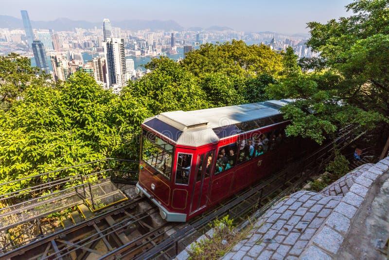 Szczytowy Tramwajowy Hong Kong obraz stock