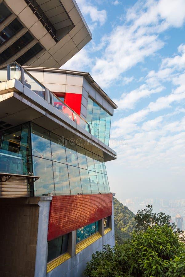 Szczytowy wierza w Hong Kong zdjęcia royalty free