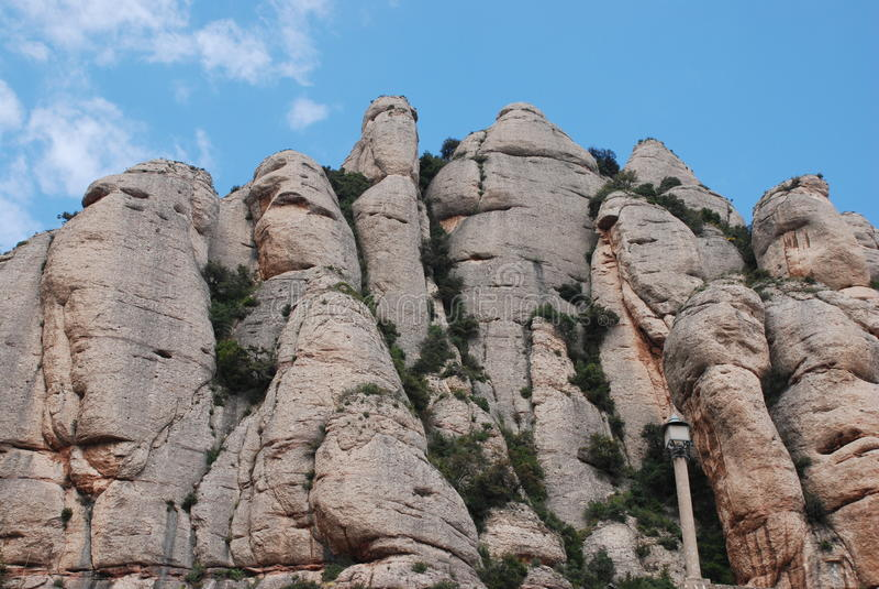 Szczyty Montserrat fotografia royalty free