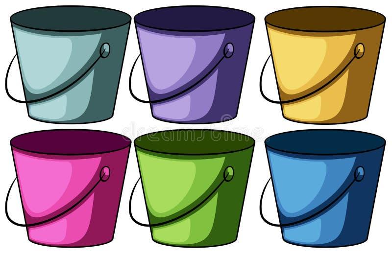 Sześć colourful wiader royalty ilustracja