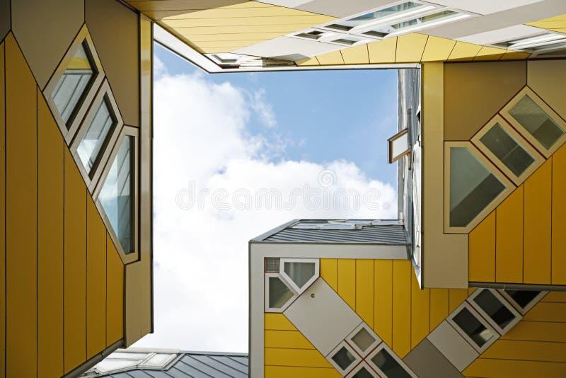 Sześcianów domy w Rotterdam holandie zdjęcie stock