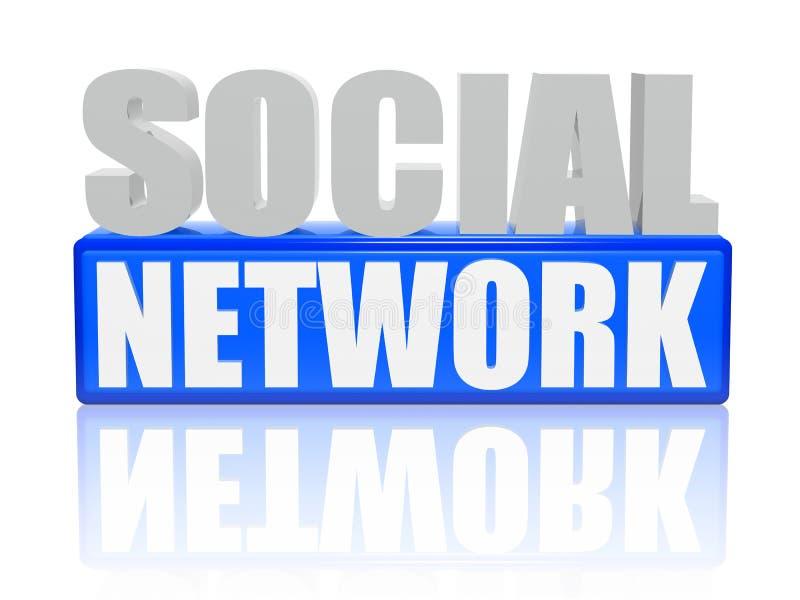 sześcianów listów sieci socjalny ilustracja wektor
