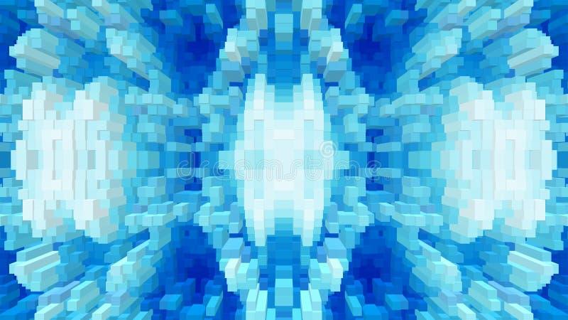 Sześcian 3d extrude symetrii tło, tekstura prosta ilustracji