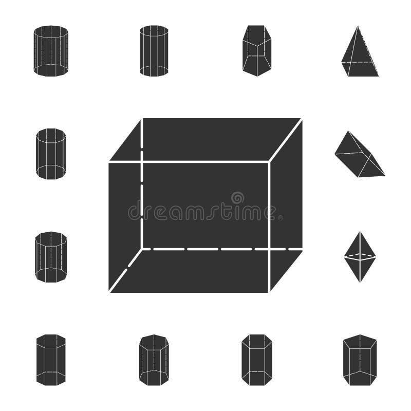 Sześcian ikona Szczegółowy set geometryczna postać Premia graficzny projekt Jeden inkasowe ikony dla stron internetowych, sieć pr ilustracji
