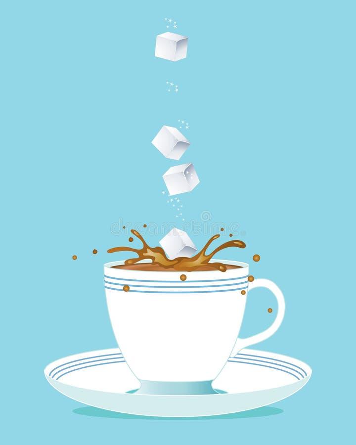 sześcianu cukieru herbata ilustracji
