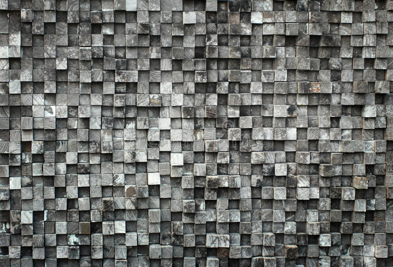 Sześcianu czarny drewno zdjęcia royalty free
