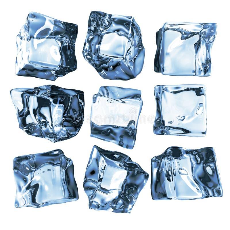 sześcianu lód ilustracji