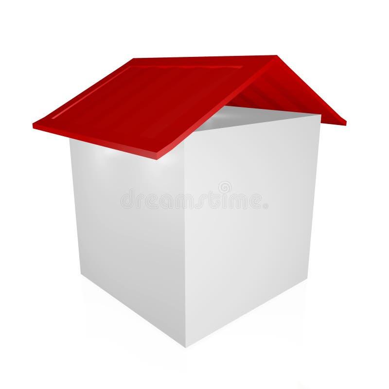 Sześcianu pudełka dom royalty ilustracja