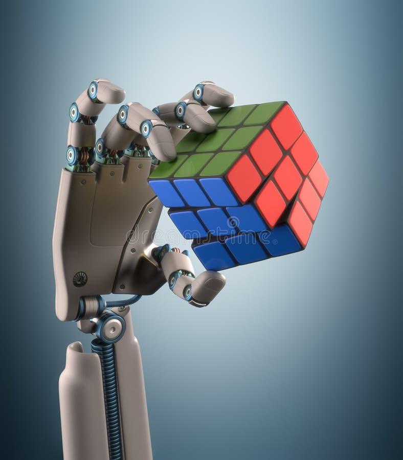 Sześcianu robot zdjęcia stock