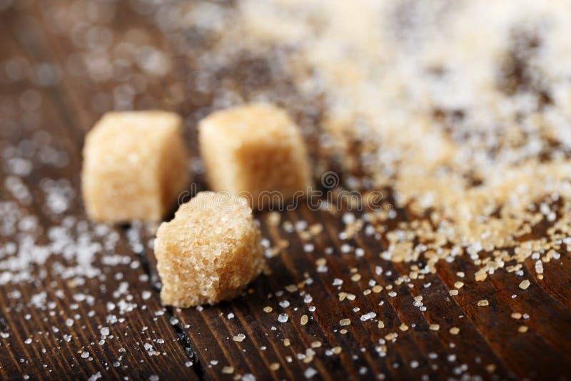 Sześciany brown cukier zdjęcie royalty free