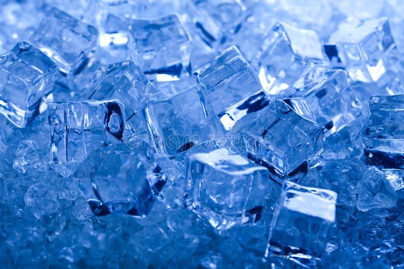 Sześciany lodu, zimnego i świeżego pojęcie, fotografia stock