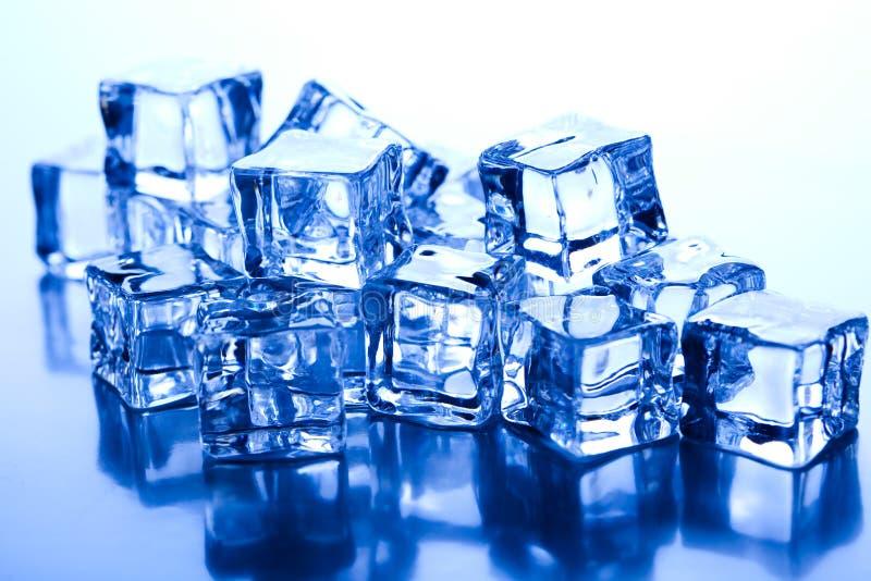 Sześciany lodu, zimnego i świeżego pojęcie, zdjęcie royalty free