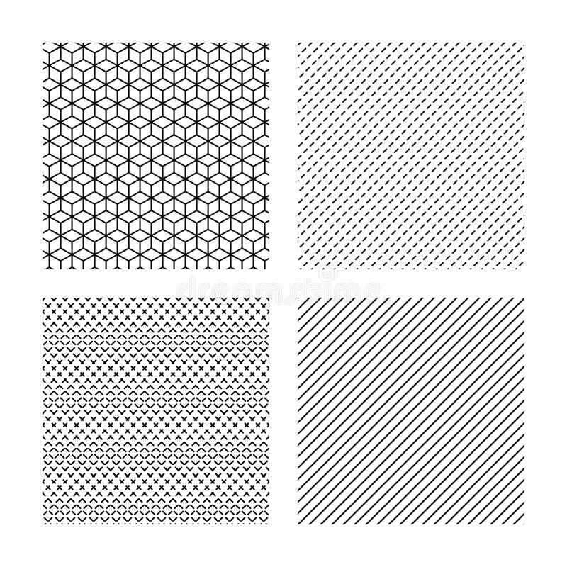 Sześciany, przeklęta przekątna wykładają bezszwowe tekstury royalty ilustracja