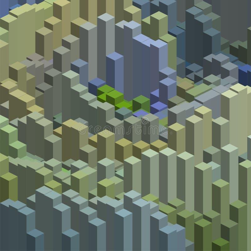Sześciany w abstrakta wzoru sześcianach w abstrakta wzorze ilustracji