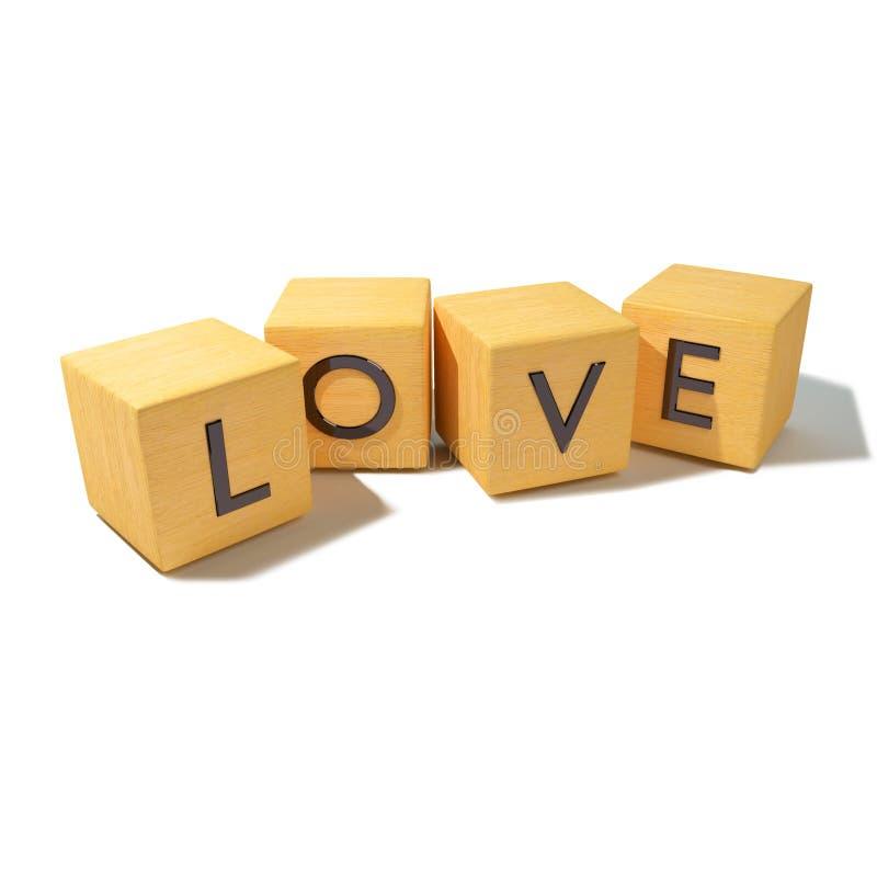 Sześciany z miłością obraz stock