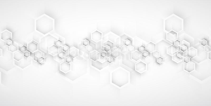 sześciokąt abstrakcyjne tło Technologii poligonal projekt Cyfrowego futurystyczny minimalizm royalty ilustracja