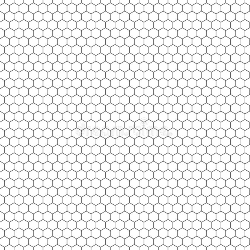 Sześciokąt bezszwowa wektorowa tekstura Heksagonalny siatki powtórki wzór royalty ilustracja