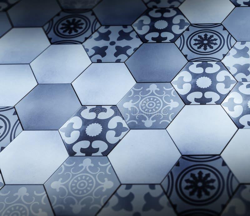 Sześciokąt podłoga z Provence wzoru teksturą royalty ilustracja