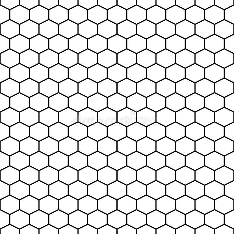 Sześciokąt siatki komórek wektorowy bezszwowy wzór ilustracja wektor