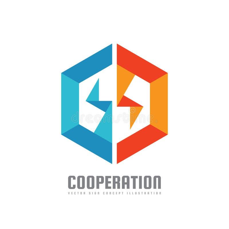 Sześciokąt - wektorowa loga szablonu pojęcia ilustracja Geometryczny origami znak symbolu abstrakcjonistyczny biznesowy ilustracy ilustracji