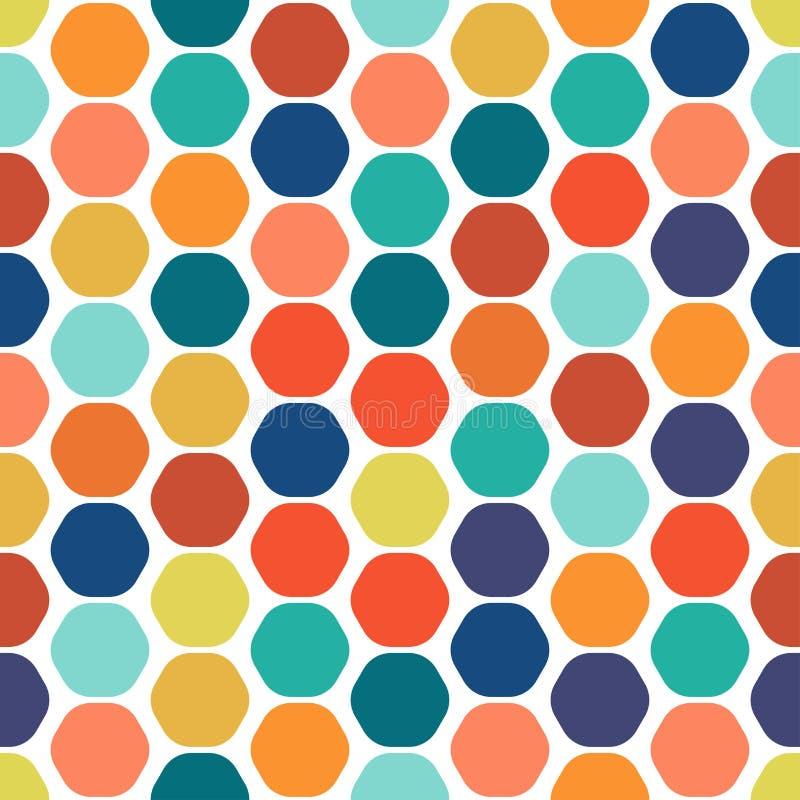 Sześciokąta kolorowy bezszwowy geometryczny wzór royalty ilustracja