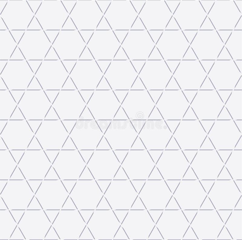 Sześciokąta kreskowy bezszwowy wzór, Gwiazdowego wzoru tło, bielu deseniowy tło, wektor zdjęcie royalty free