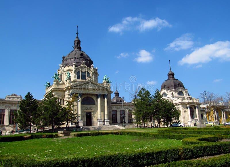 Szechenyi热量浴,布达佩斯,匈牙利 免版税库存照片