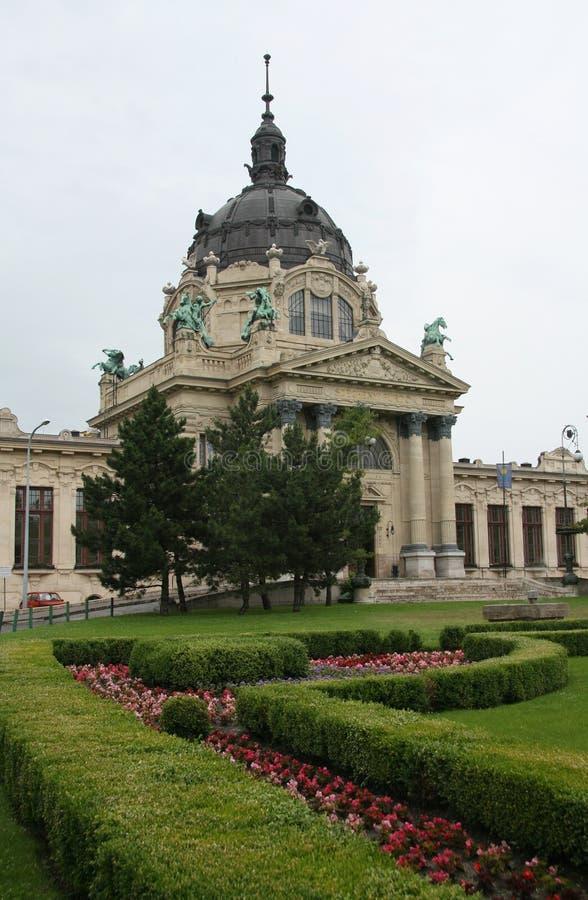 Szechenyi热量浴,布达佩斯,匈牙利 免版税图库摄影