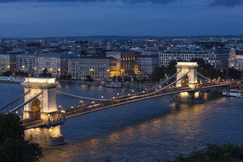 Szechenyi Chain Bridge - Budapest - Hungary stock image