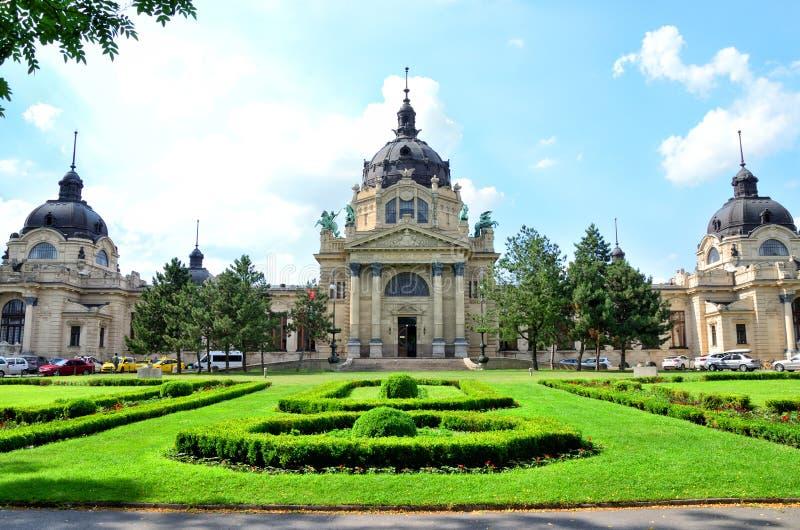 Szechenyi Geneeskrachtig Thermisch Baden en Kuuroord, Boedapest, Hongarije royalty-vrije stock fotografie