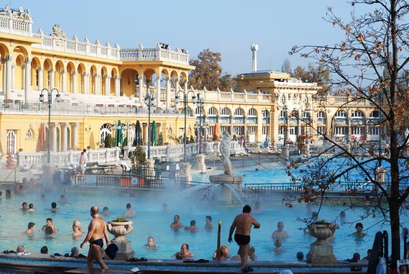 Szechenyi Spa in Boedapest royalty-vrije stock afbeelding